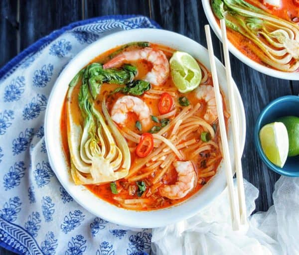 Thai Noodle Soup with Shrimp | Like a hug in a bowl