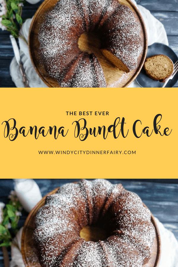 Banana Bundt Cake   A easy and quick moist and fluffy banana bundt cake #cake #baking
