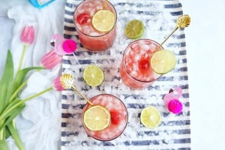 Kick up your feet, invite over some friends, and serve up these delicious raspberry smash cocktails.