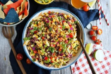 Smoky Summer Slaw | This coleslaw is loaded with smoky chipotle flavors and is perfect for any cookout or BBQ. It pairs well with fajitas, burgers, and so many other dishes!