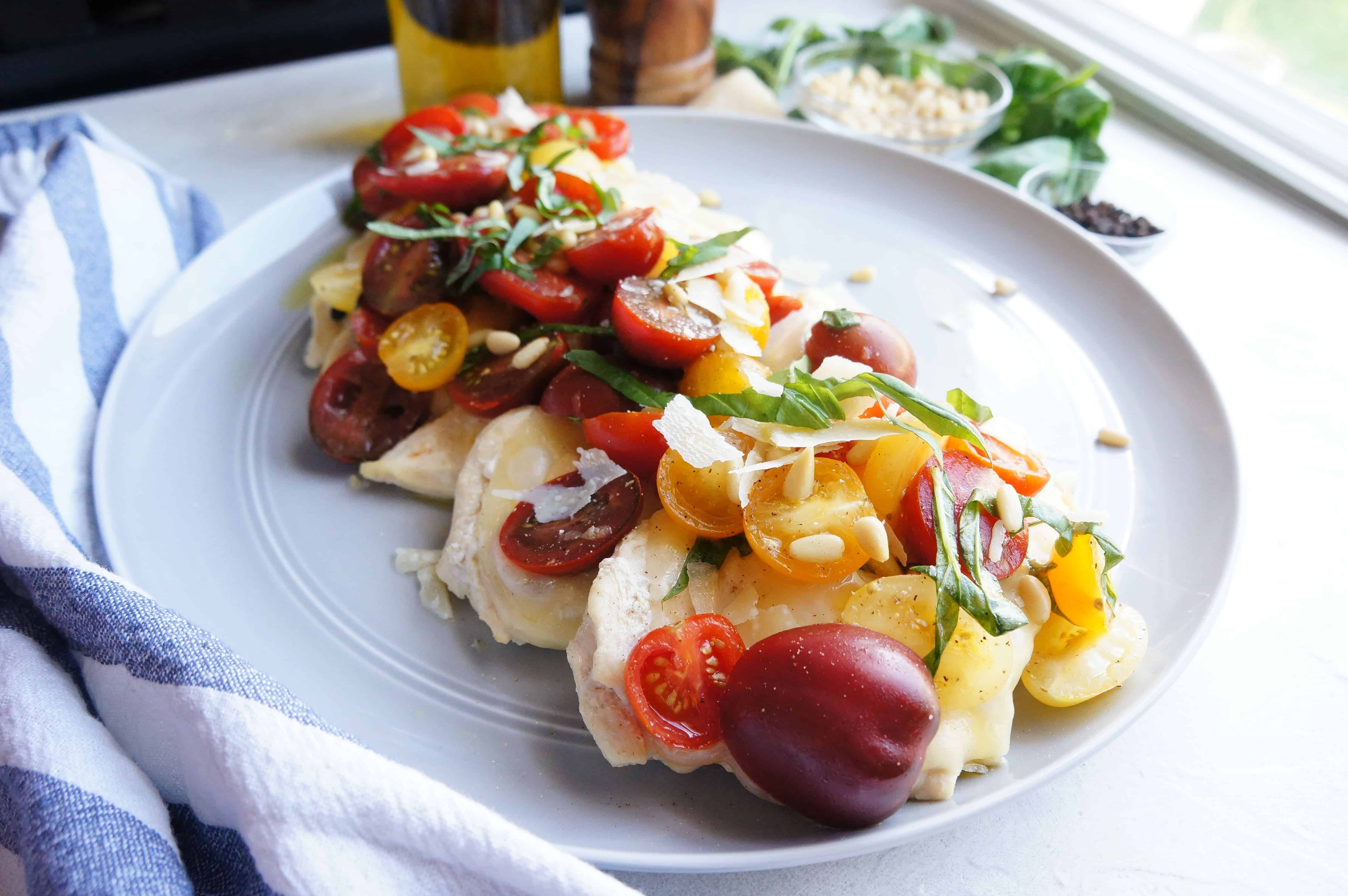 Chicken Bruschetta | a light and flavorful meal your whole family will love