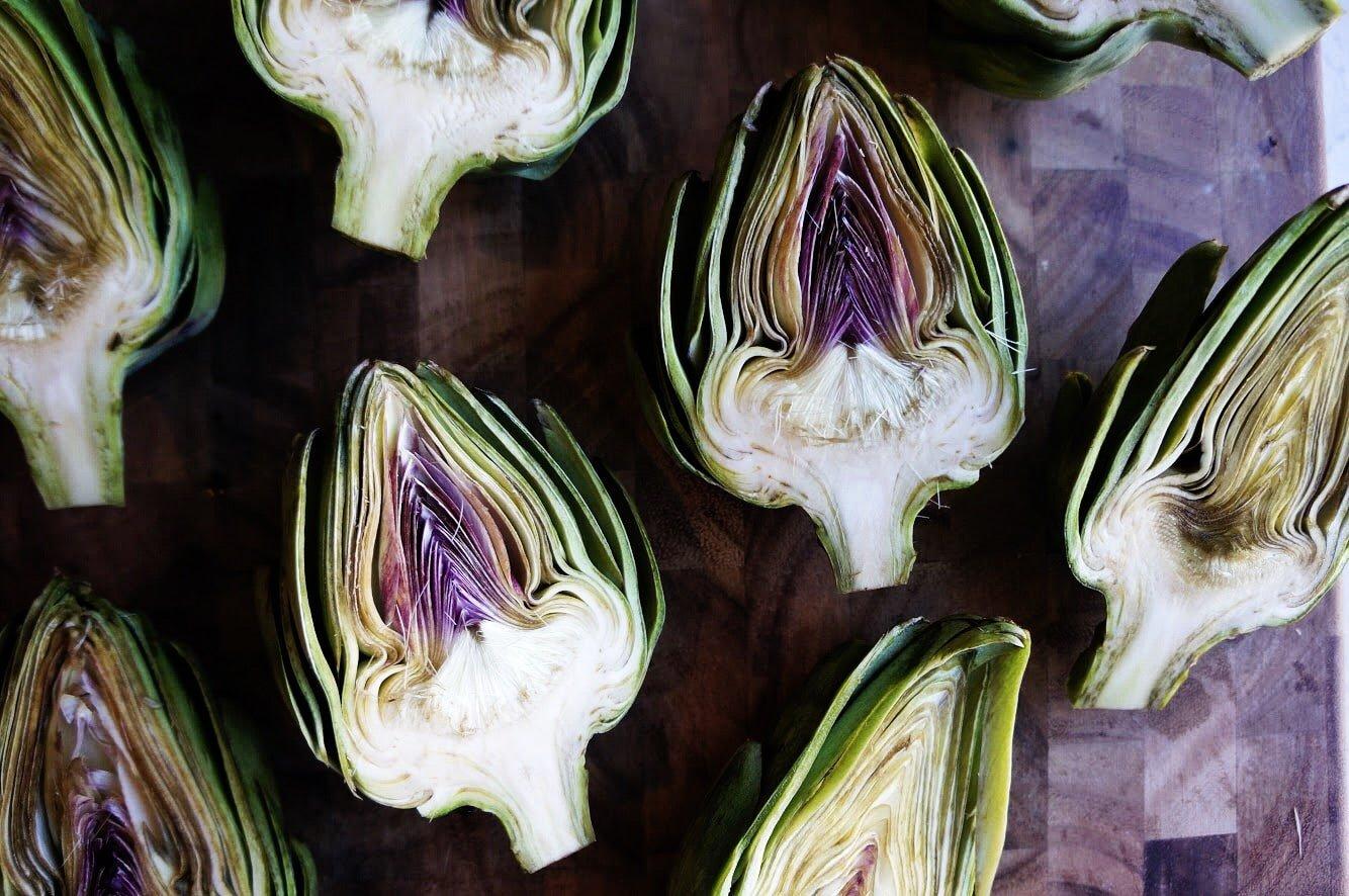 sliced artichokes