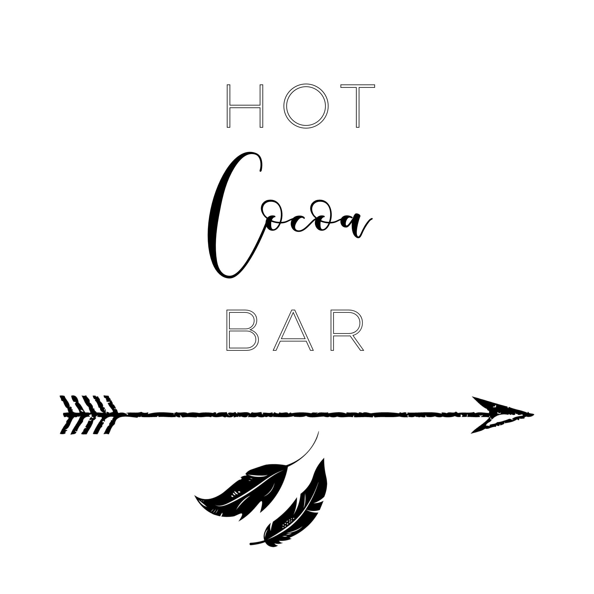 hot cocoa bar printable