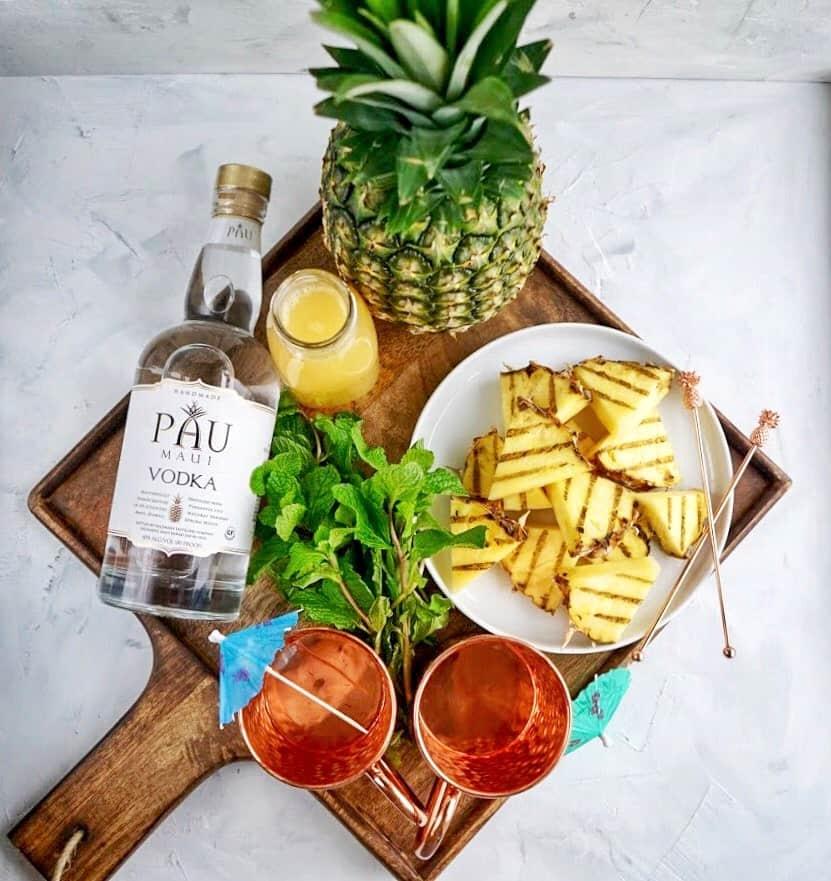 grilled pineapple mule ingredients