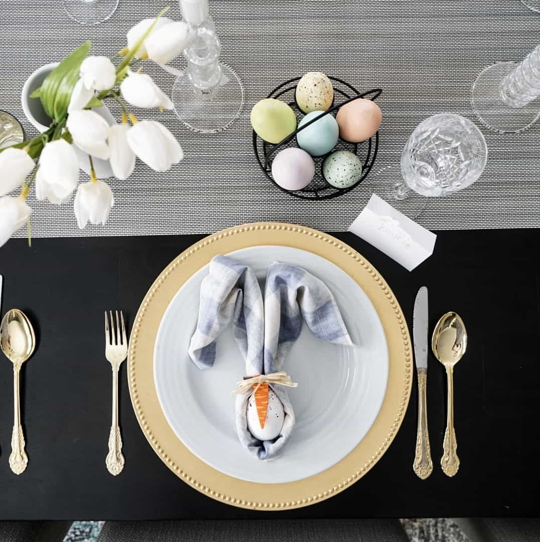 Easter Tablescape and place setting