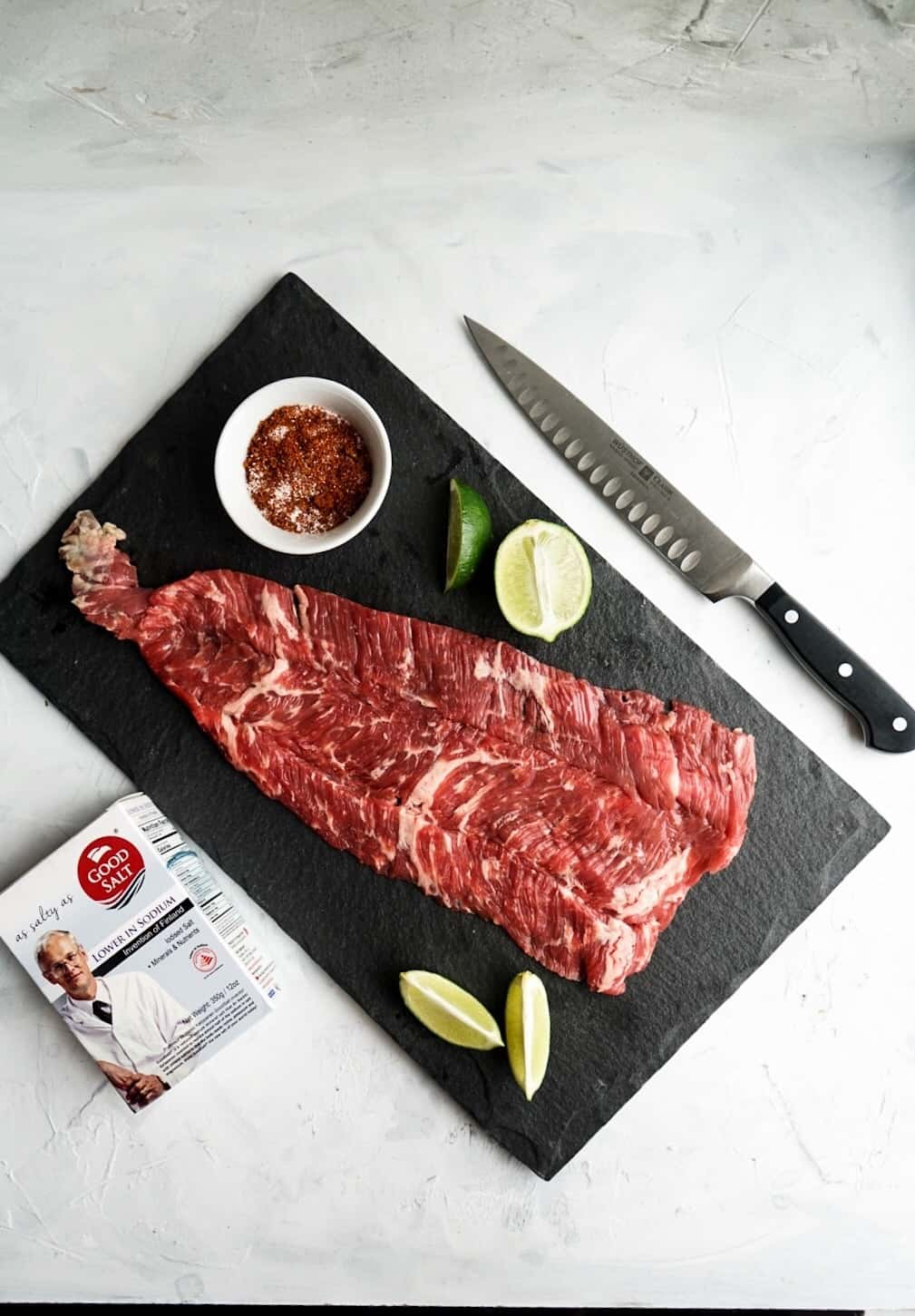 skirt steak with seasoning