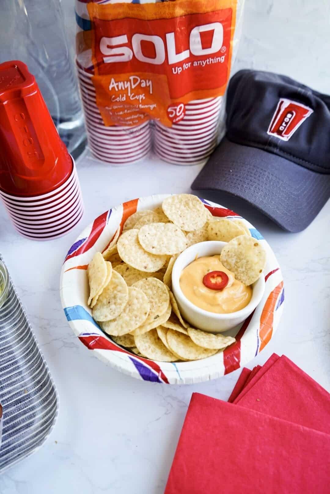 nachos in solo cup
