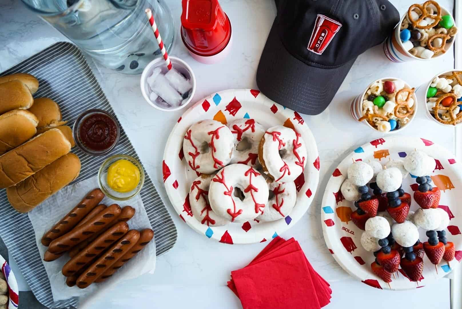 baseball party snacks