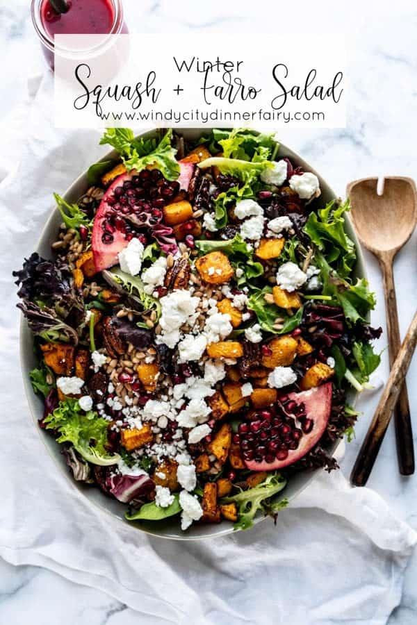 Winter Squash and Farro Salad