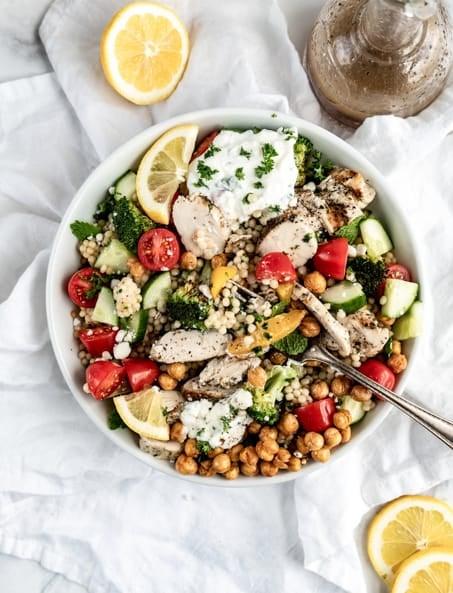 greek chicken bowl tossed
