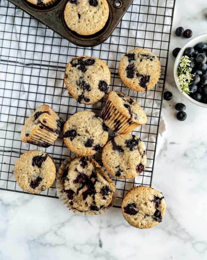 bakery style blueberry muffins