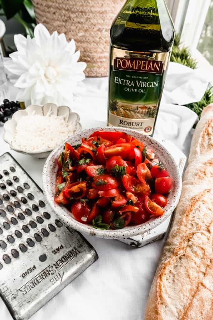 marinated tomatoes in bowl